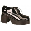 Shoe Platform Black Patent Men Medium